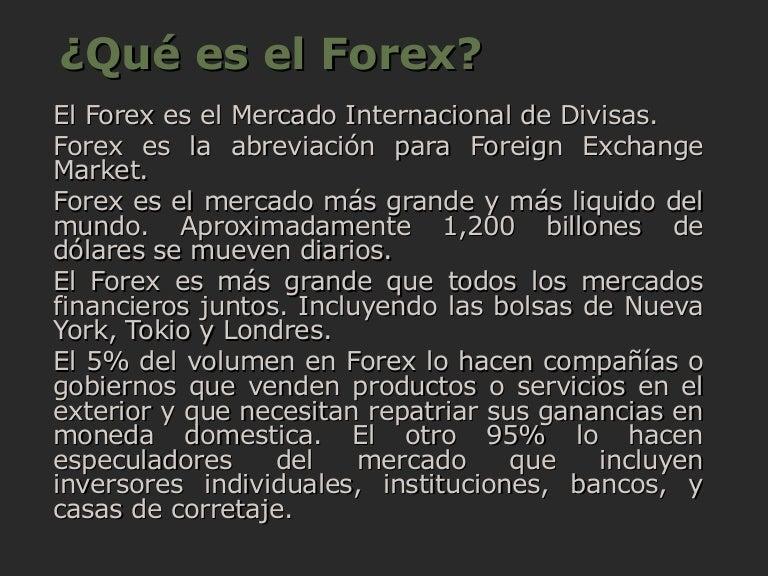 ¿Qué es Forex?   Trading y Bolsa para Torpes
