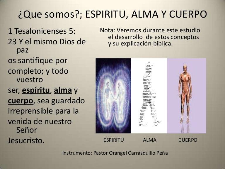 ¿Que somos?; ESPIRITU, ALMA Y CUERPO