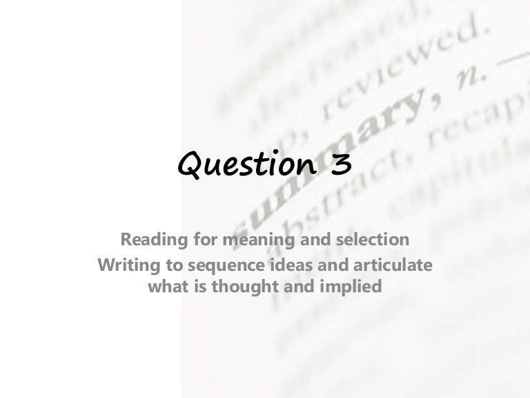 iGCSE Mock Exam Prep Question 3 Jan 2014