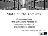 State of the Archives: questionnaire on the archives and heritage of UNPO