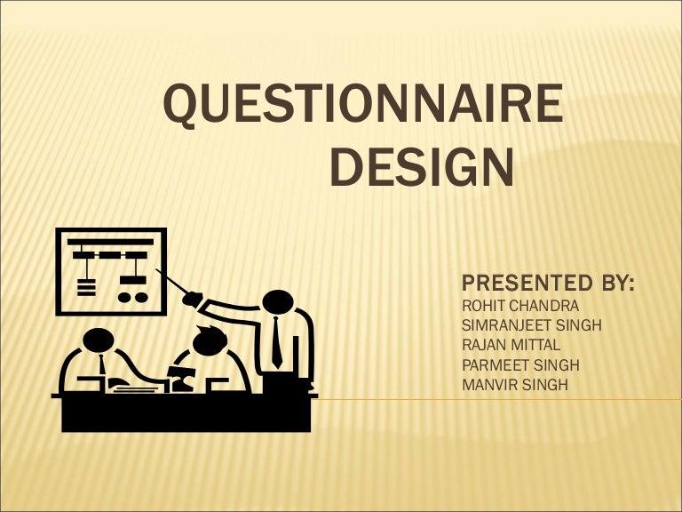 Questionnaire Design Business Research