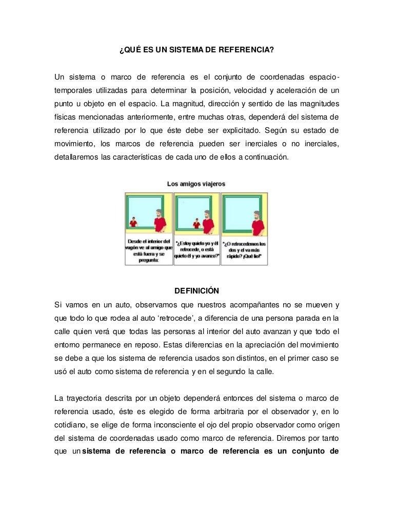 Anexo # 4. Qué es un sistema de referencia