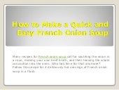 Quick and easy french onion soup