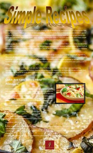 Quick and easy turkey pasta primavera