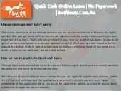 Quick cash online loans