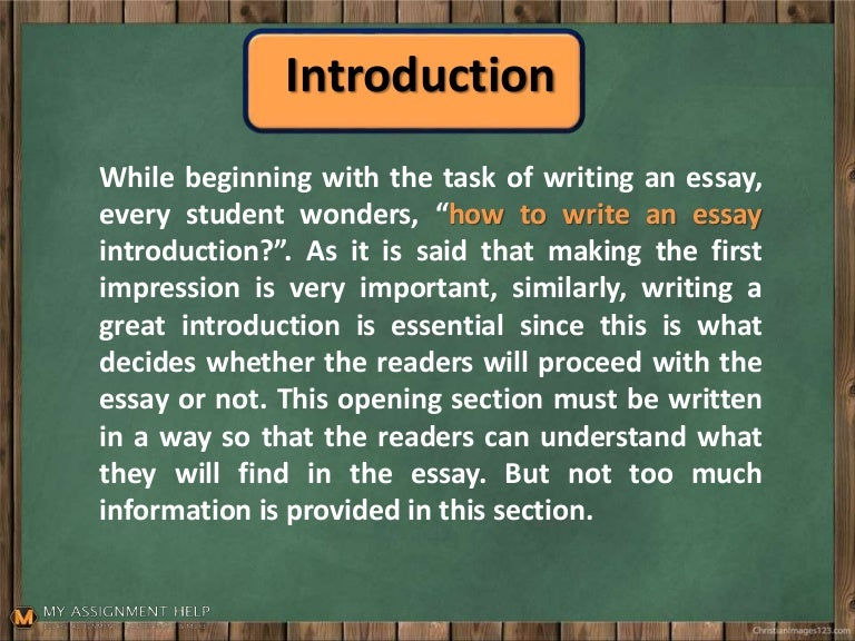 Tips to writing an introduction of an essay best college dissertation topics