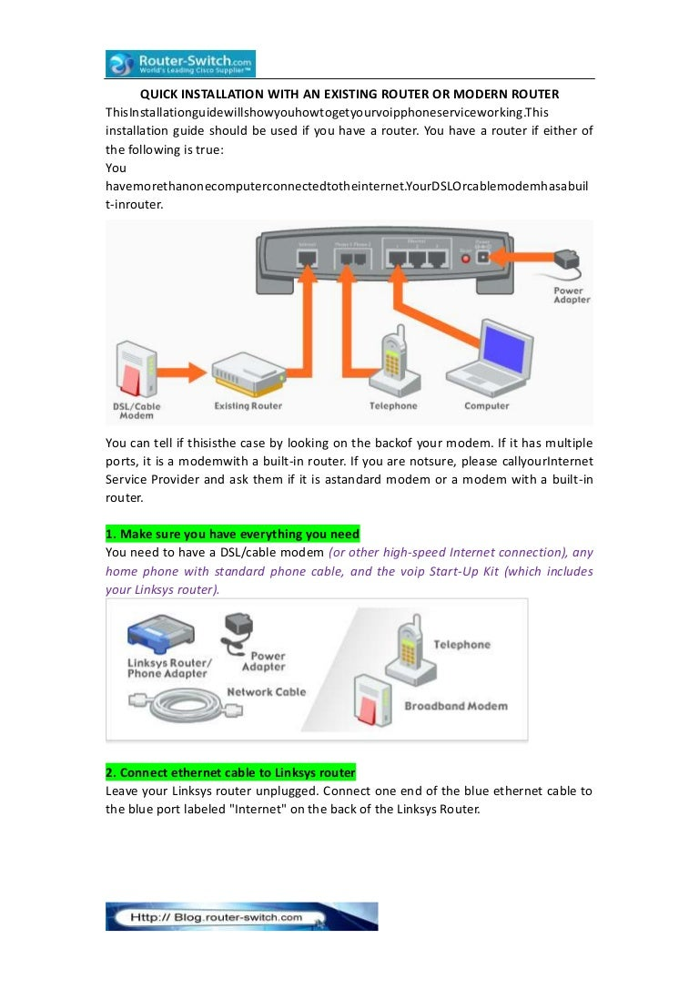 Quick Installation With An Existing Router Or Modern Link To Diagram Of Broadband Internet Connection Cable Dsl Quickinstallationwithanexistingrouterormodernrouter 131119003616 Phpapp01 Thumbnail 4cb1384821404