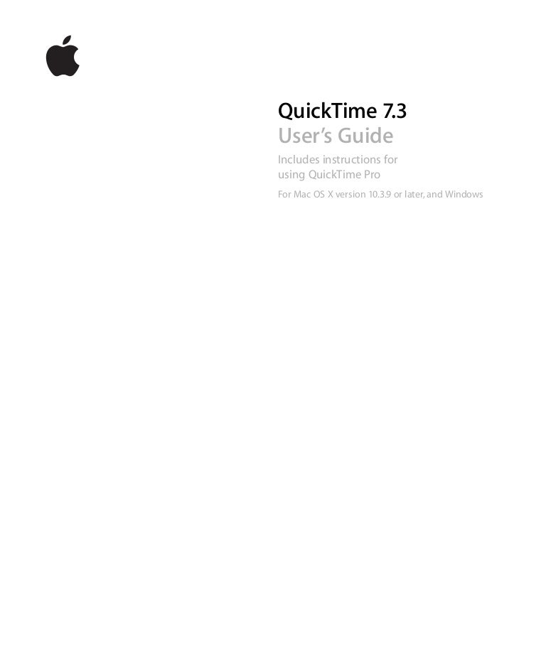 quick time7 user guide rh slideshare net Instruction Manual Example Instruction Manual