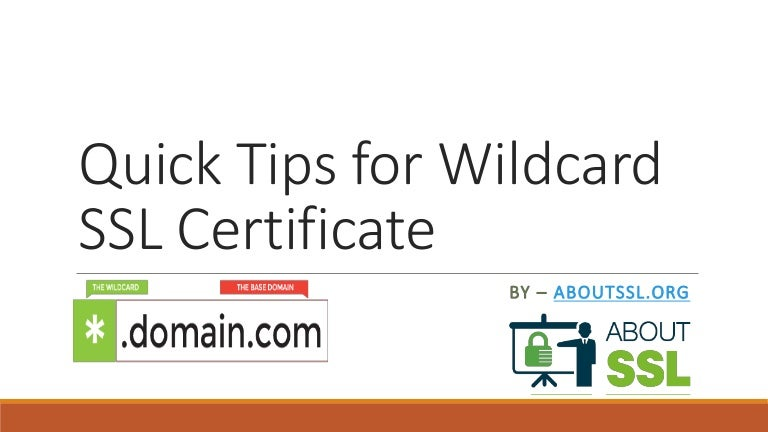 Quick Tips For Wildcard Ssl Certificate