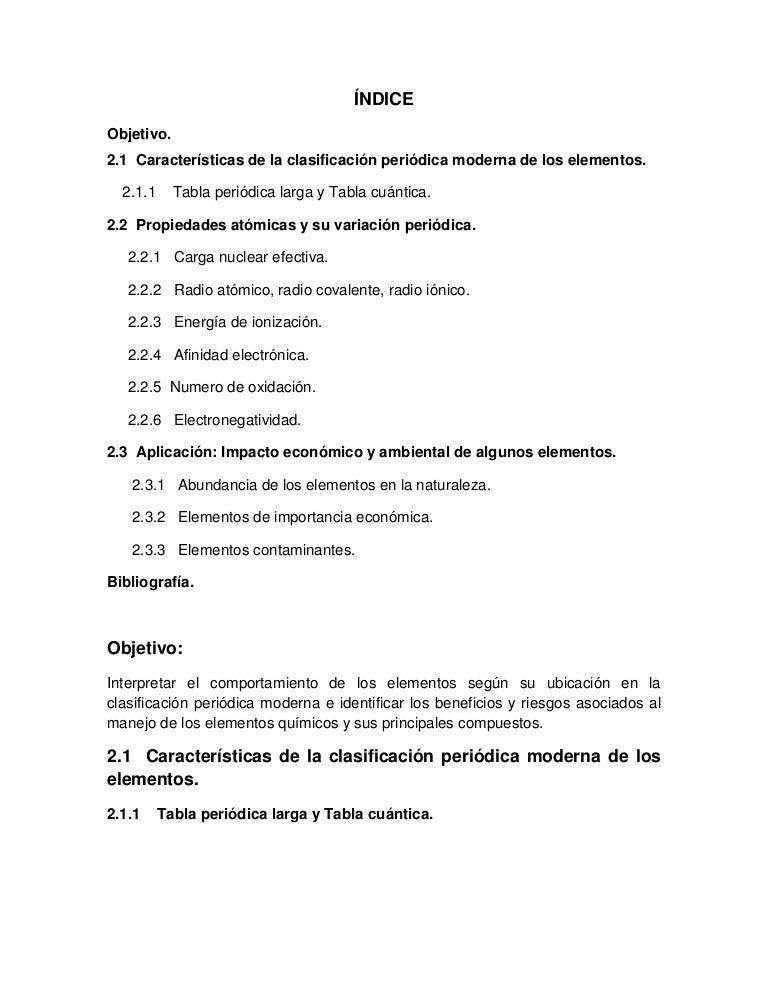 Quimica unidad 2 elementos quimicos y su clasificacin urtaz Images