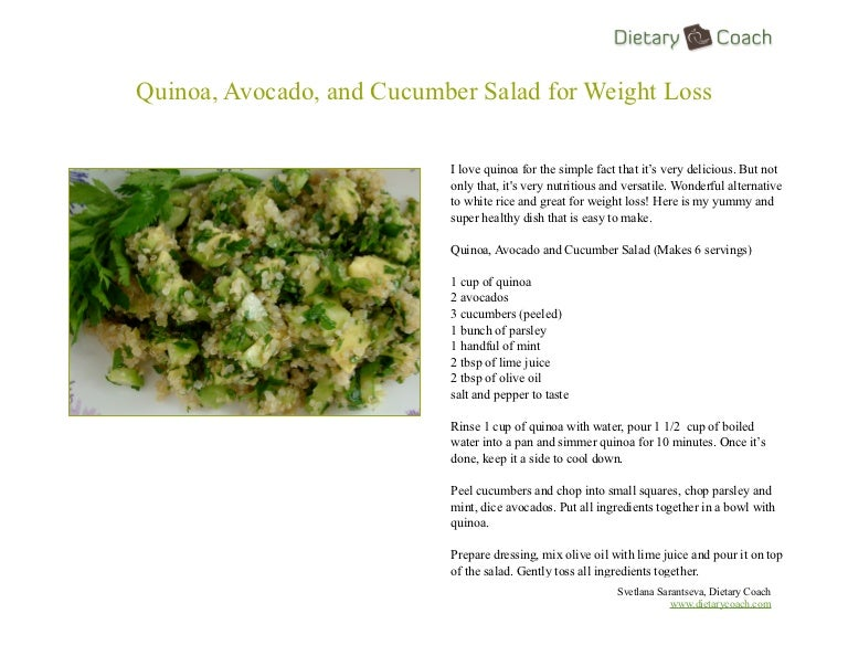 Quinoa, Avocado, and Cucumber Salad for Weight Loss