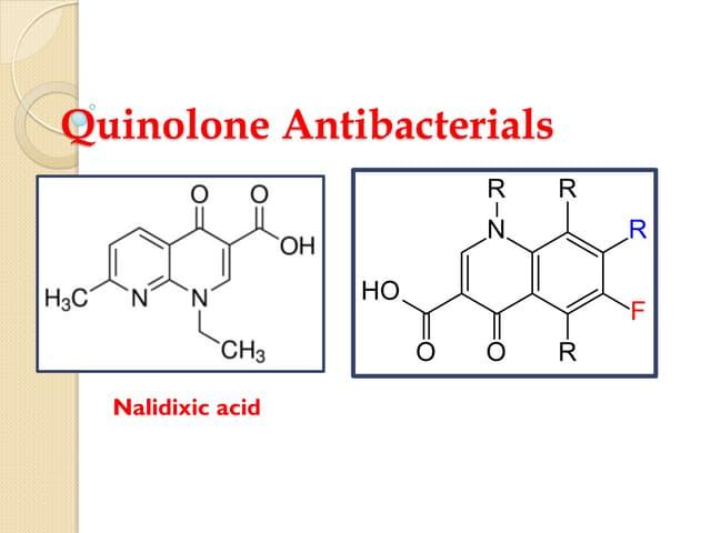 Quinolone antibacterials