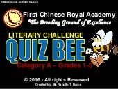 QUIZ BEE FOR GRADE 1-3