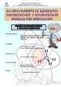 Práctica: Reconocimiento de elementos organógenos y separación de mezclas por destilación