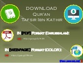Quran Tafsir Ibn Kathir Colored Full | English PDF