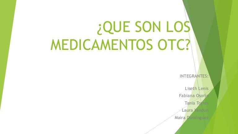 nombres de medicamentos de venta libre en colombia