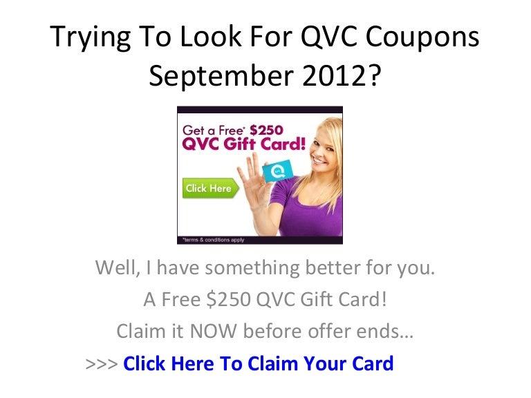 qvc coupon code september 2018
