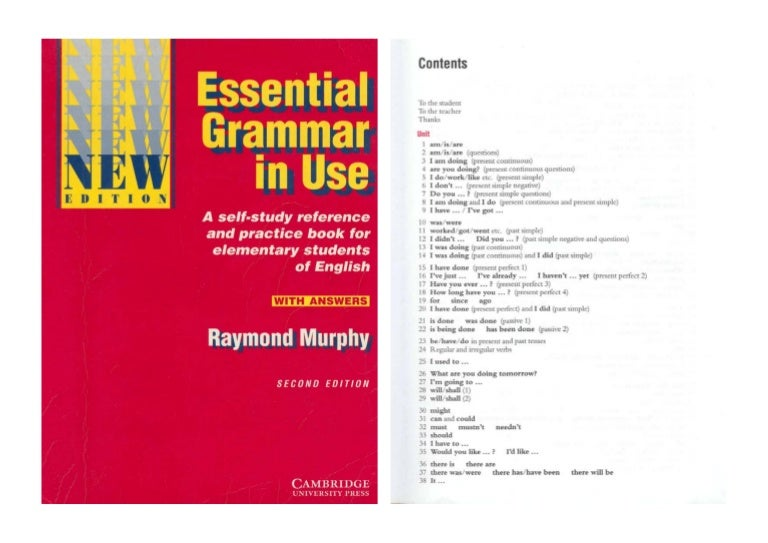 Amazon. Com: essential grammar in use book with answers and.