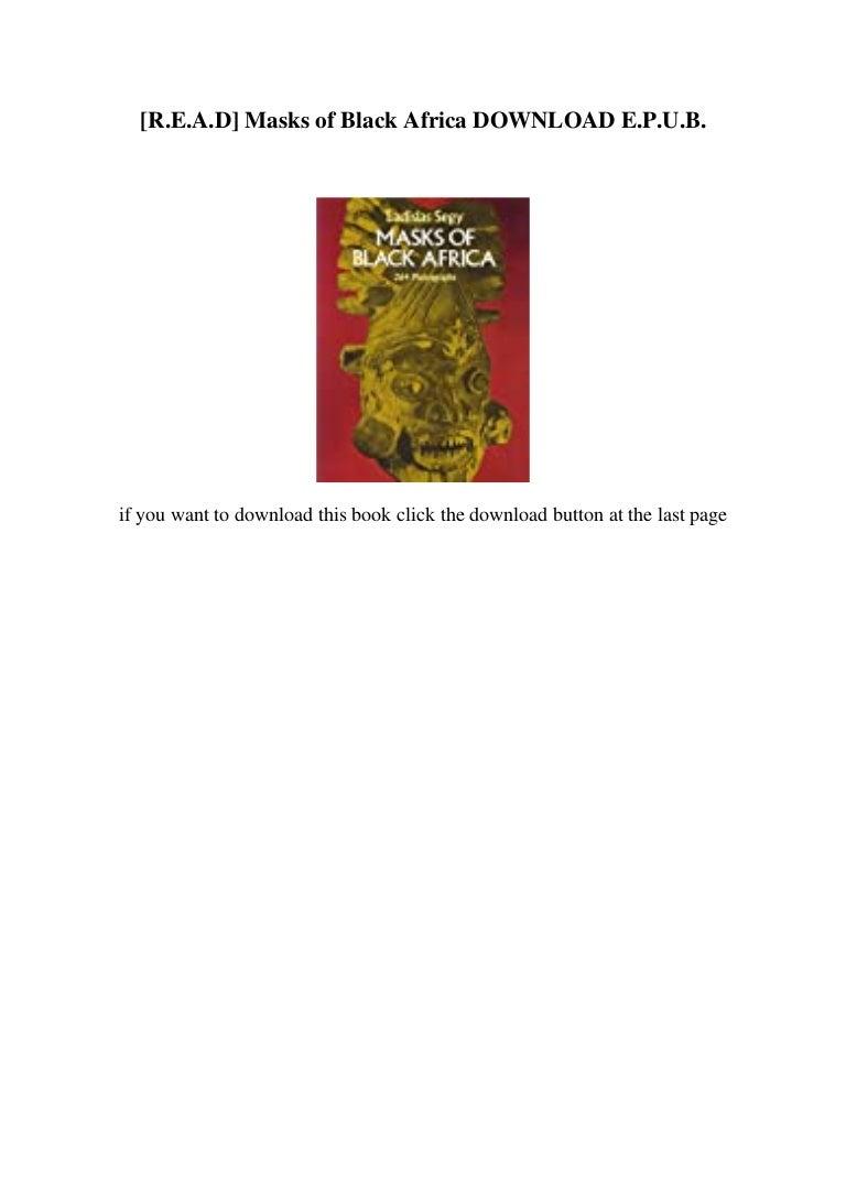 Free [R.E.A.D] Masks of Black Africa DOWNLOAD E.P.U.B.