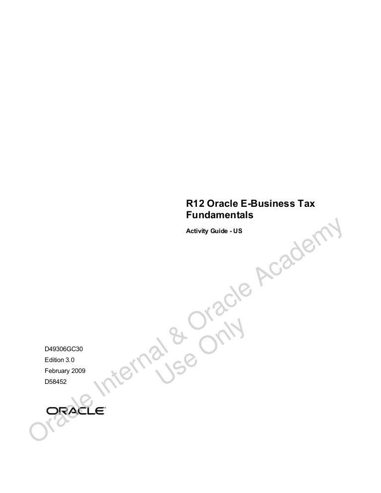 r12 oracle e business tax fundamentals ag us oracle ebs rh slideshare net Oracle EBS R12 Modules Oracle EBS R12 Modules