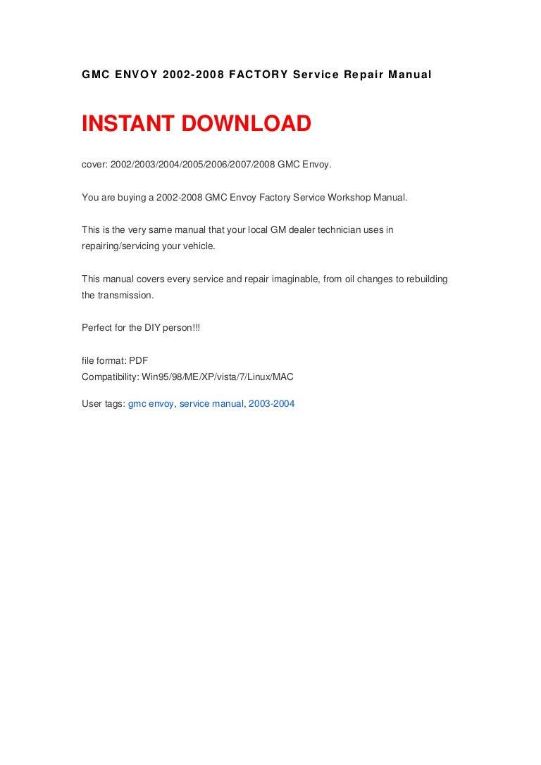 2004 gmc envoy repair manual free