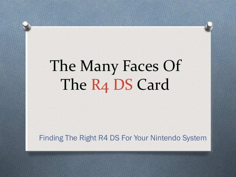 R4 DS Card And R4 3DS Cards