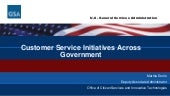 Customer Service Initiatives Across Government