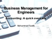 Business Management - Accounting