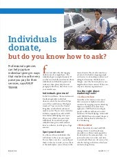 Individuals donate, but do you know how to ask?