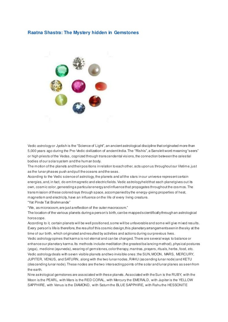 Raatna shastra the mystery hidden in gemstones