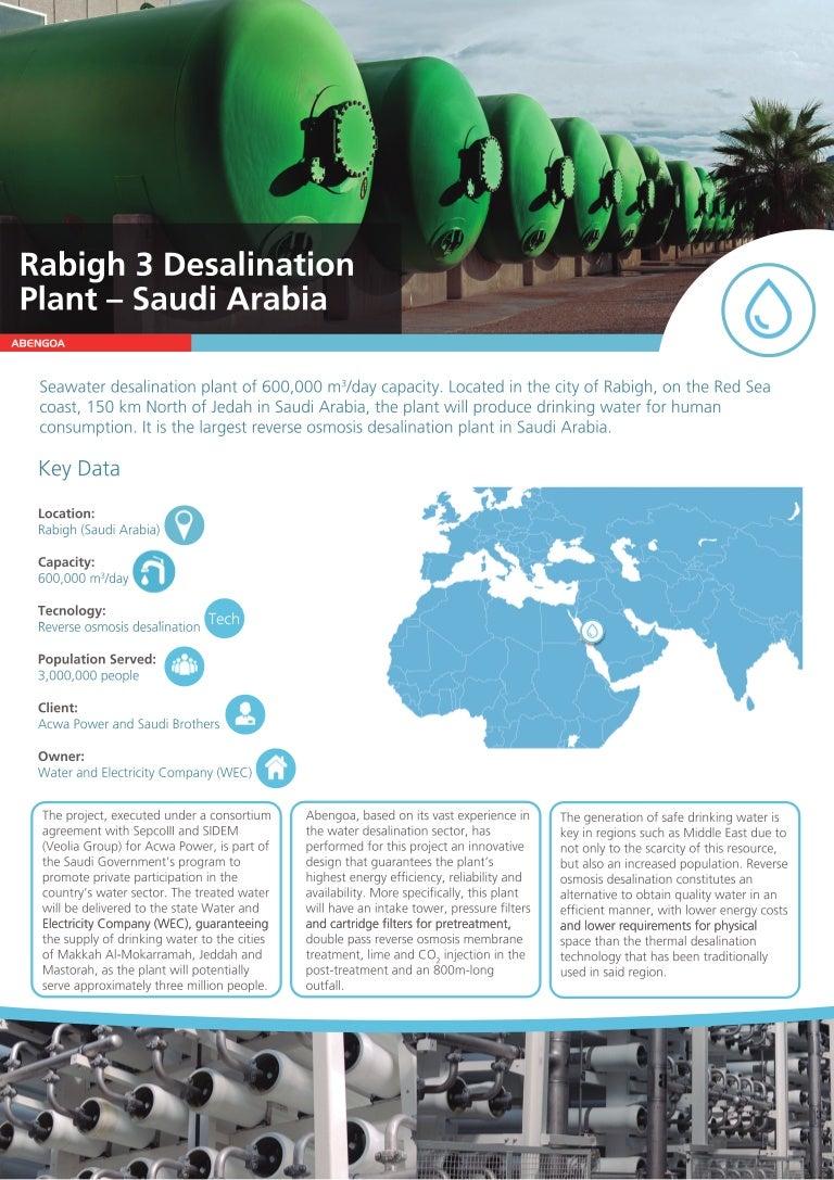 Rabigh 3 desalination plant - Saudi Arabia