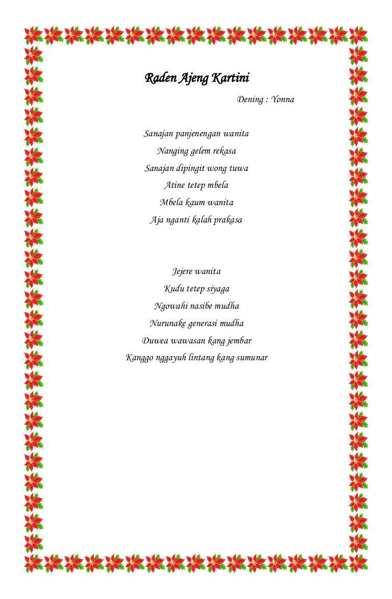 Kumpulan Puisi Ibu Kita Kartini Www Topsimages Com