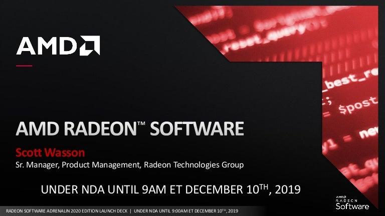 Amd Radeon Software Adrenalin 2020