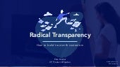 "Elize Bosker ""Radical Transparency: How to Build Trust with Customers"" Productized19"