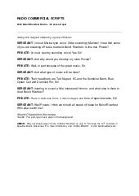 promotional video script template - radio advertising