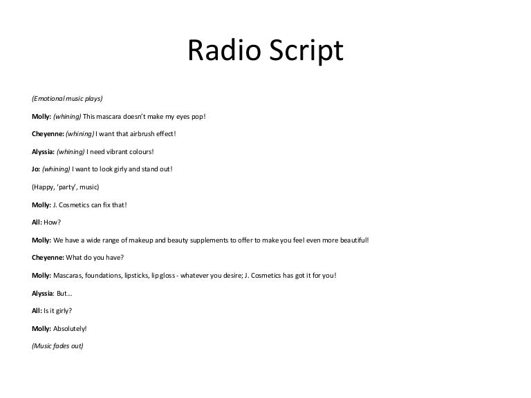 Example of radio drama script english