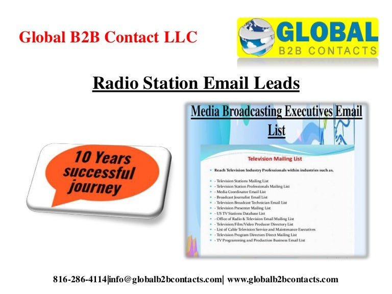 Radio station email leads