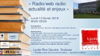 Aux origines des web radios