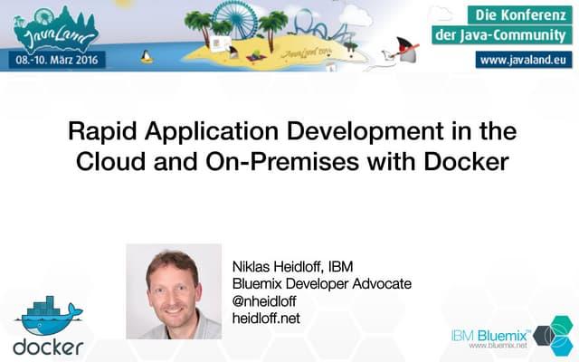 Rapid Application Development with Docker