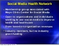 Social Media Health Network Events