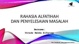 Rahasia AlFatihah dan Penyelesaian Masalah