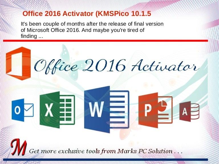 microsoft office activator 2016 kmspico