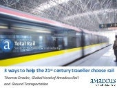 3 ways to help the 21st century traveller choose rail