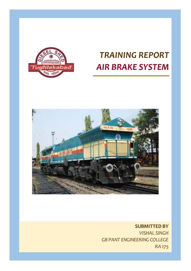 railway training report rh slideshare net