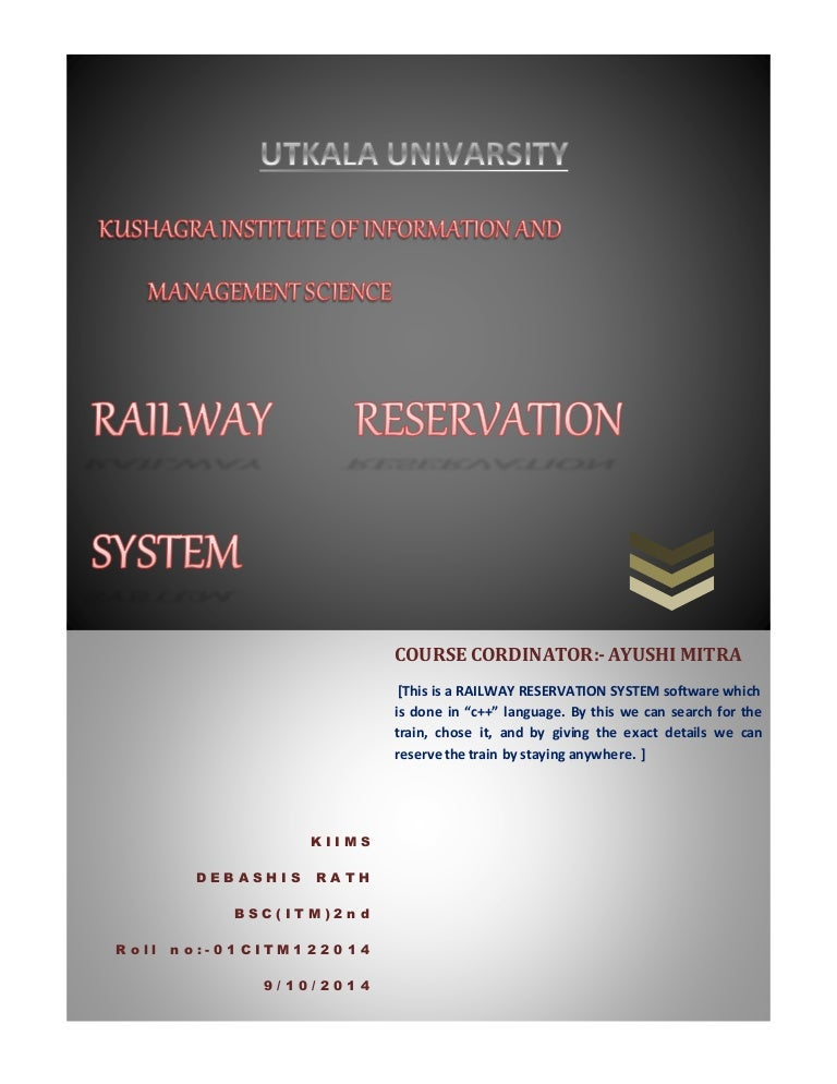 Railway reservation(c++ project)