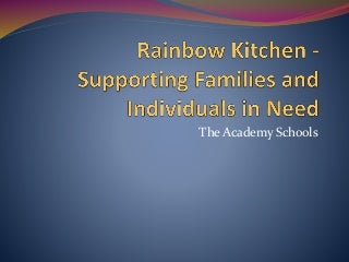 Rainbow Kitchen - Supporting Families and Individuals in Need