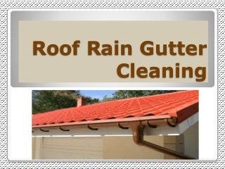 Roof Rain Gutter Cleaning Service - SunshineGuttersPRO