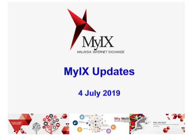 MyIX Updates