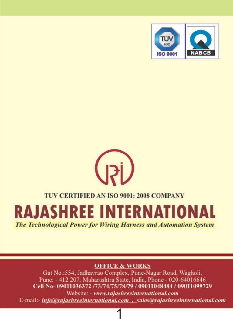 Rajashree International  Pune  Cable Wiring Harness