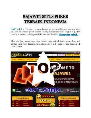 Rajawe1 situs poker terbaik